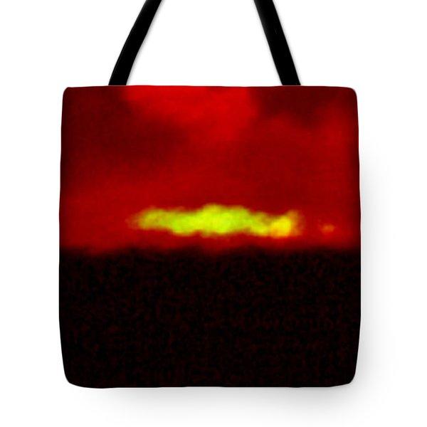 Green Flash Of Setting Sun Tote Bag