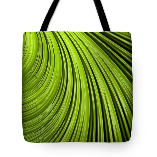 Green Flow Abstract Tote Bag