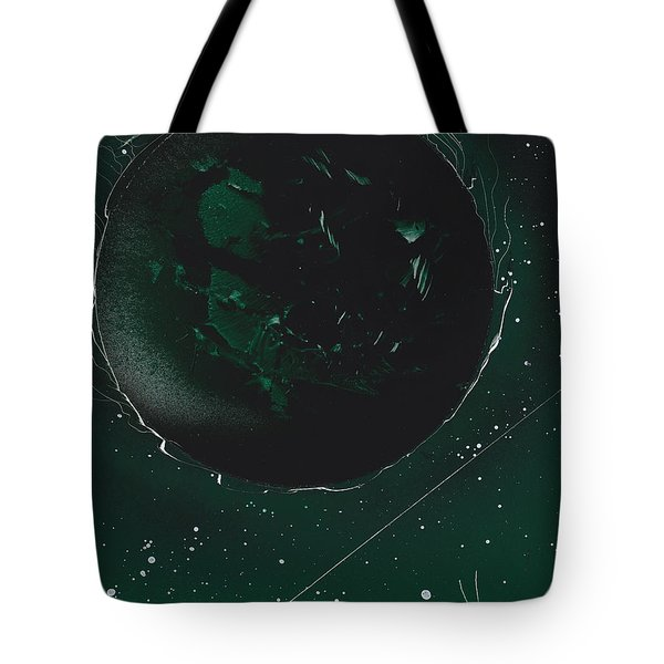Green Galaxies Tote Bag