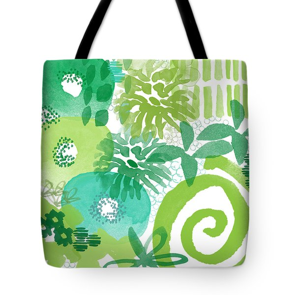 Green Garden- Abstract Watercolor Painting Tote Bag