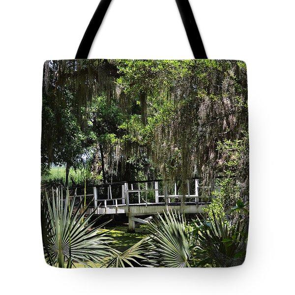 Green Gardens At Magnolia Plantation Tote Bag
