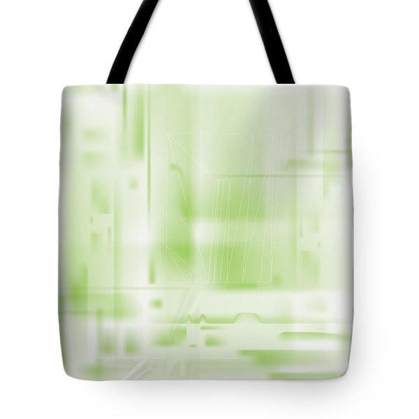 Green Ghost City Tote Bag