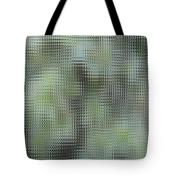 Tote Bag featuring the digital art Green Glass by Oksana Semenchenko