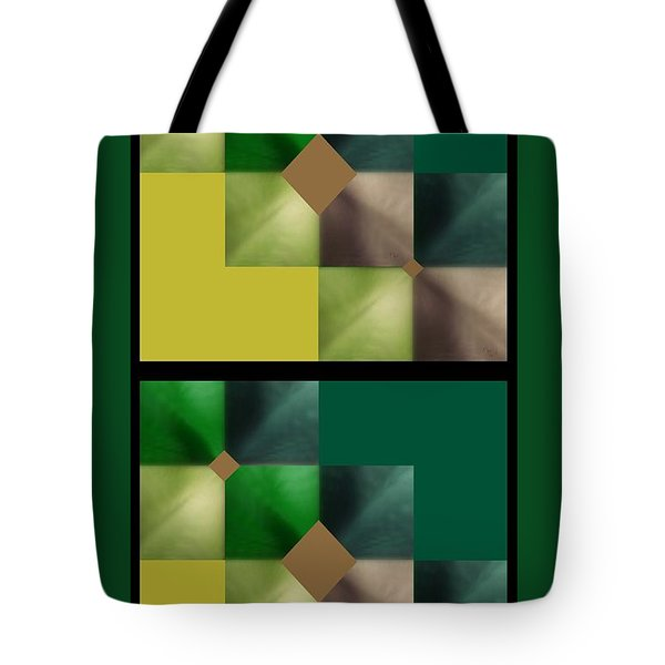 Green Glow Check Tote Bag