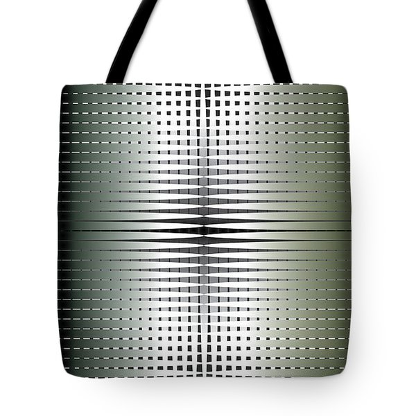 Tote Bag featuring the digital art Green/gold Grid by Kevin McLaughlin