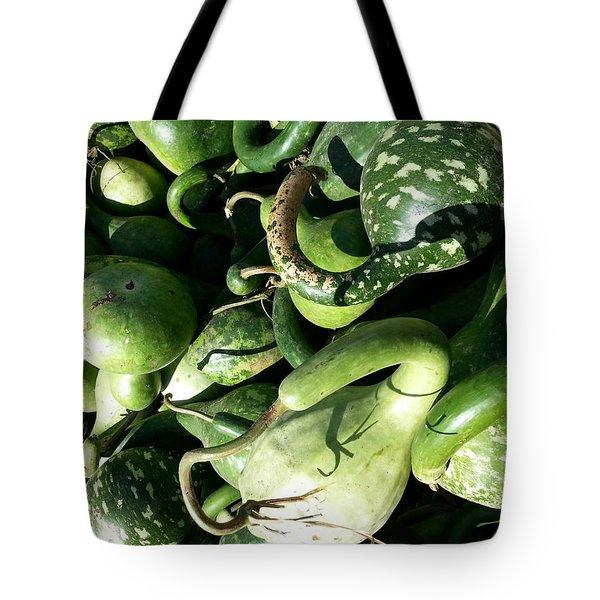 Tote Bag featuring the photograph Green Goosenecks by Caryl J Bohn