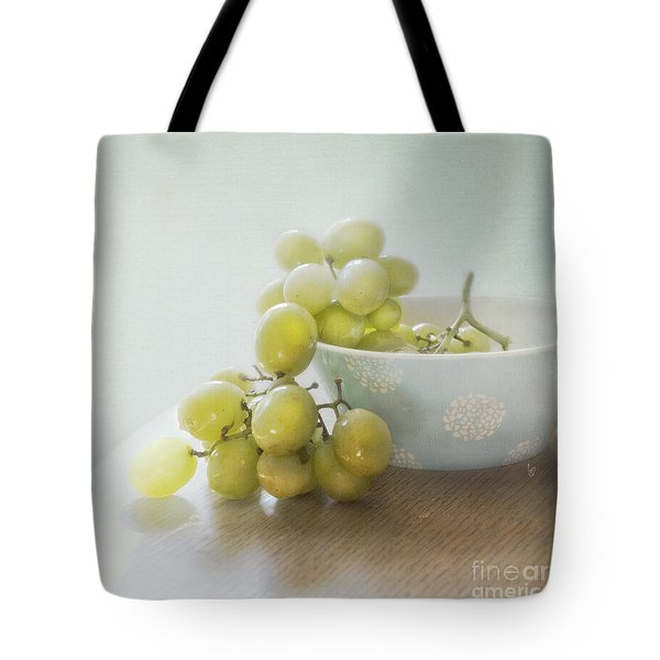 Green Grapes Tote Bag by Cindy Garber Iverson
