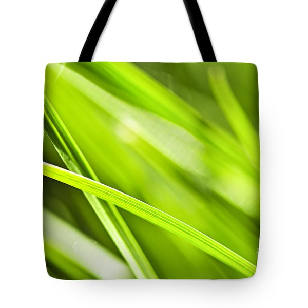 Green Grass Abstract Tote Bag