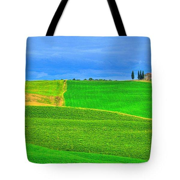 Green Green Grass Of Home Tote Bag by Midori Chan