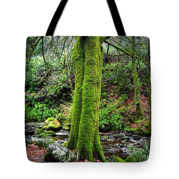 Green Green Moss Tote Bag