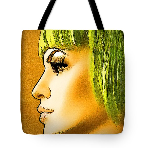 Green Hair Tote Bag by Chuck Staley