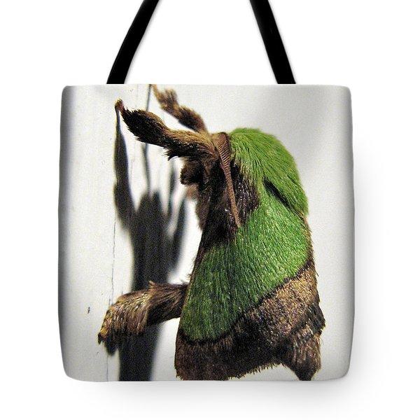 Green Hair Moth Tote Bag