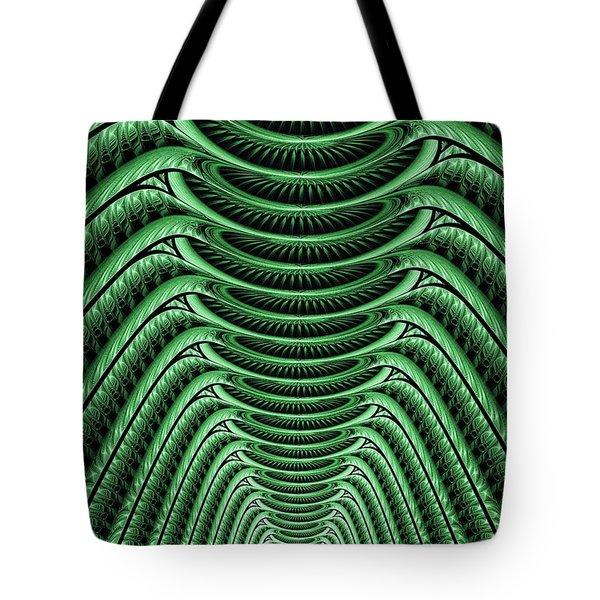 Tote Bag featuring the digital art Green Hall by Anastasiya Malakhova