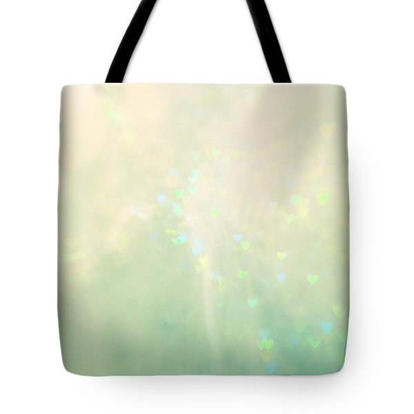 Green Hearts Tote Bag