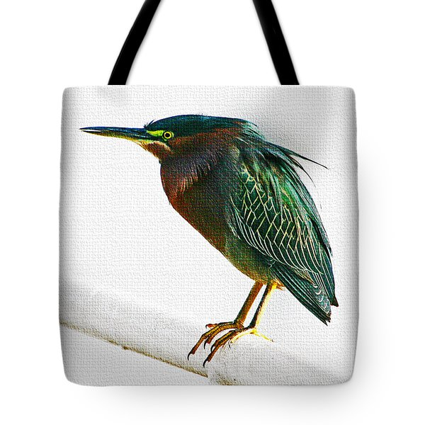 Green Heron In Scottsdale Tote Bag by Tom Janca