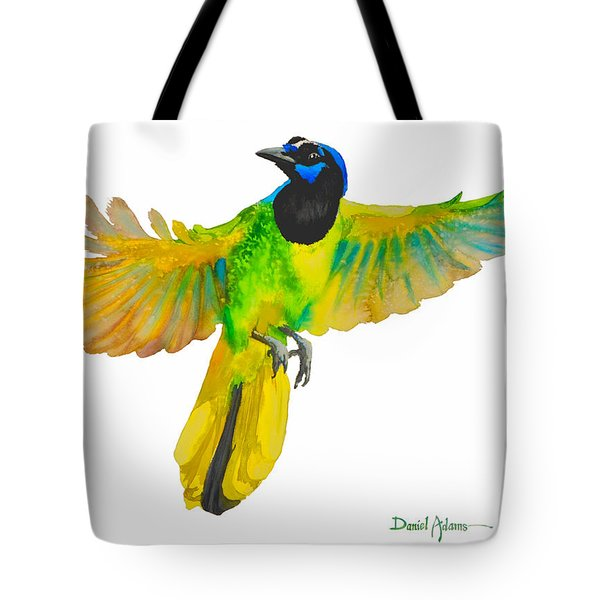 Da175 Green Jay By Daniel Adams Tote Bag