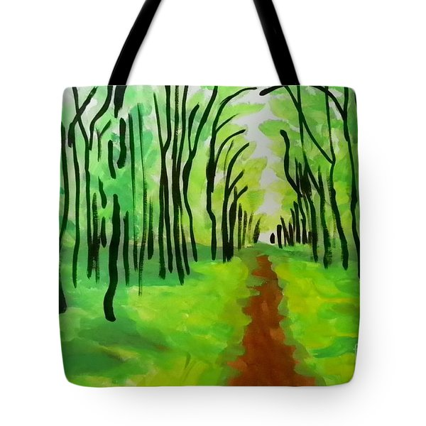Green Leaves Tote Bag by Marisela Mungia