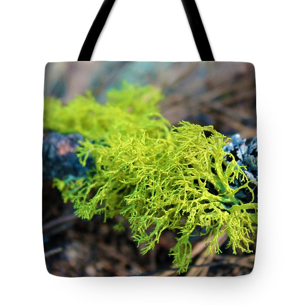 Green Lichen Tote Bag