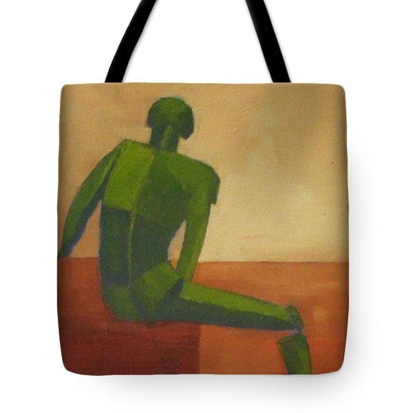 Green Male Figure Tote Bag