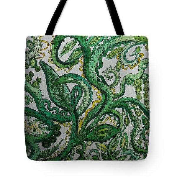 Green Meditation Tote Bag