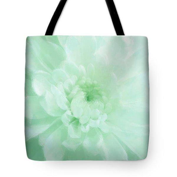 Green Mum Luminous Painted Blossom Tote Bag