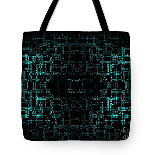 Green Network Tote Bag by Anita Lewis