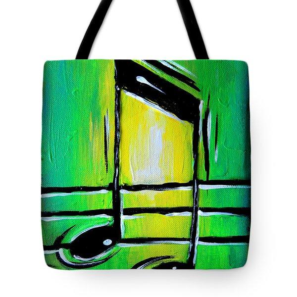 Green Notes Tote Bag