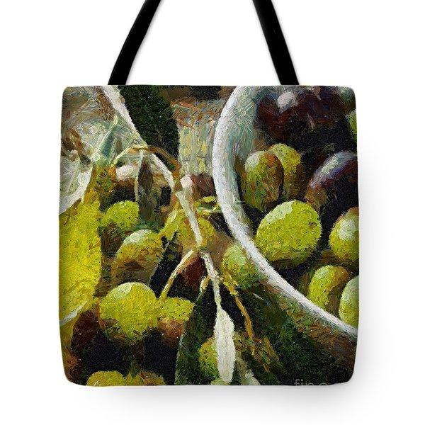 Green Olives Tote Bag