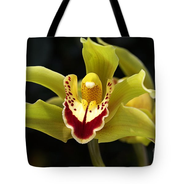 Green Orchid Flower Tote Bag