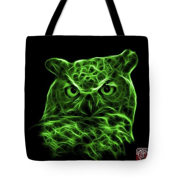Green Owl 4436 - F M Tote Bag by James Ahn