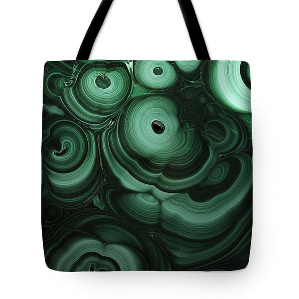 Green Patterns Of Malachite Tote Bag