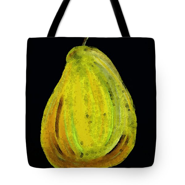 Green Pear - Contemporary Fruit Art Food Print Tote Bag by Sharon Cummings