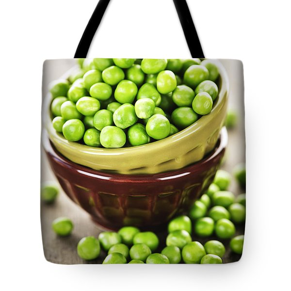 Green Peas Tote Bag by Elena Elisseeva