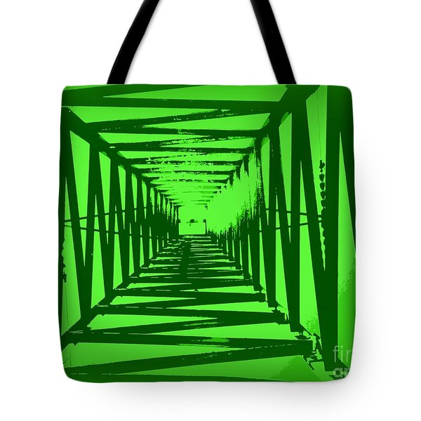 Tote Bag featuring the photograph Green Perspective by Clare Bevan