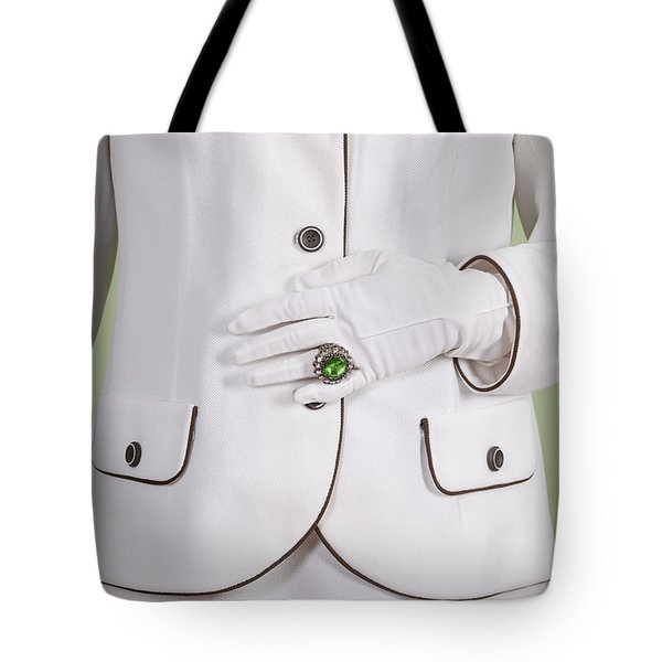 Green Ring Tote Bag by Joana Kruse