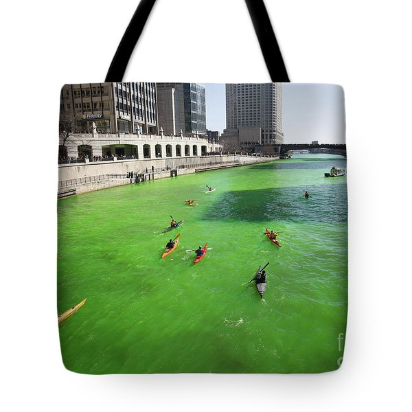 Green River Chicago Tote Bag by Martin Konopacki