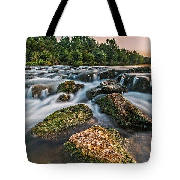 Green Rocks Tote Bag by Davorin Mance