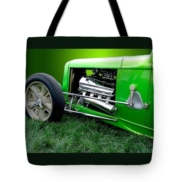 Tote Bag featuring the photograph Green Rod by Chris Thomas