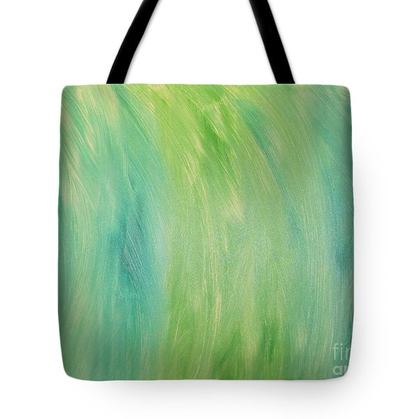 Tote Bag featuring the painting Green Shades by Barbara Yearty