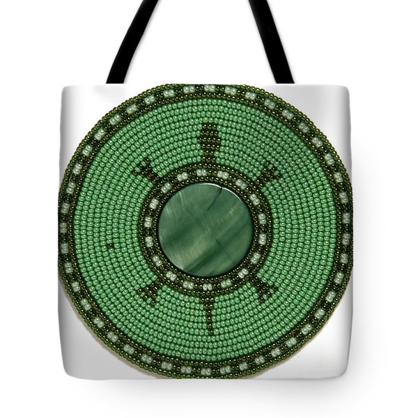 Green Shell Turtle Tote Bag