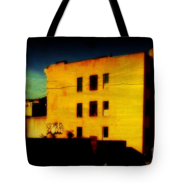 Tote Bag featuring the photograph Green Sky by Miriam Danar