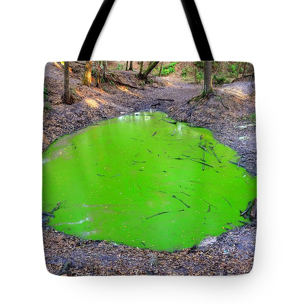 Green Spill Tote Bag by David Lee Thompson