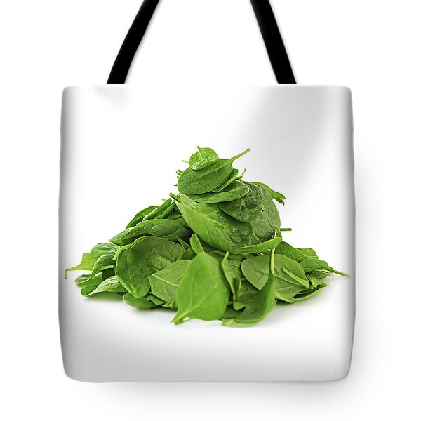 Green Spinach Tote Bag by Elena Elisseeva
