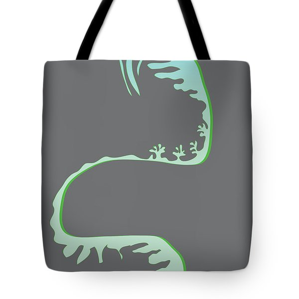 Green Spiral Evolution Tote Bag