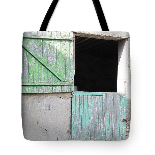 Green Stable Door Tote Bag