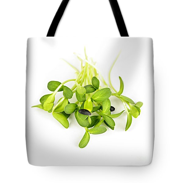 Green Sunflower Sprouts Tote Bag