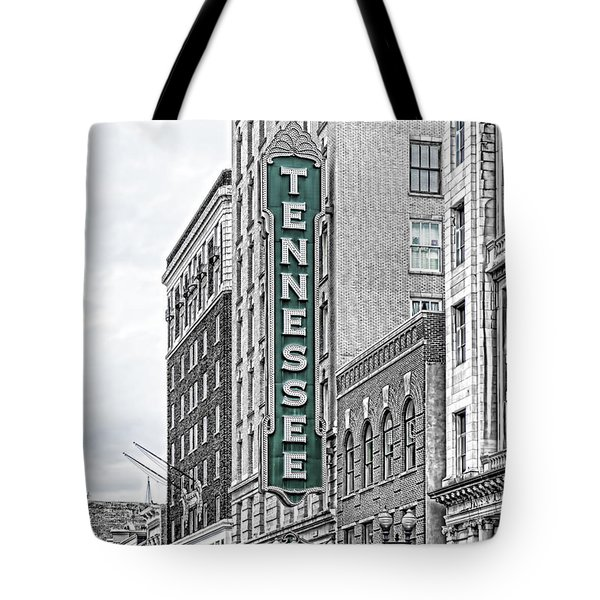 Green Tennessee Theatre Marquee Tote Bag