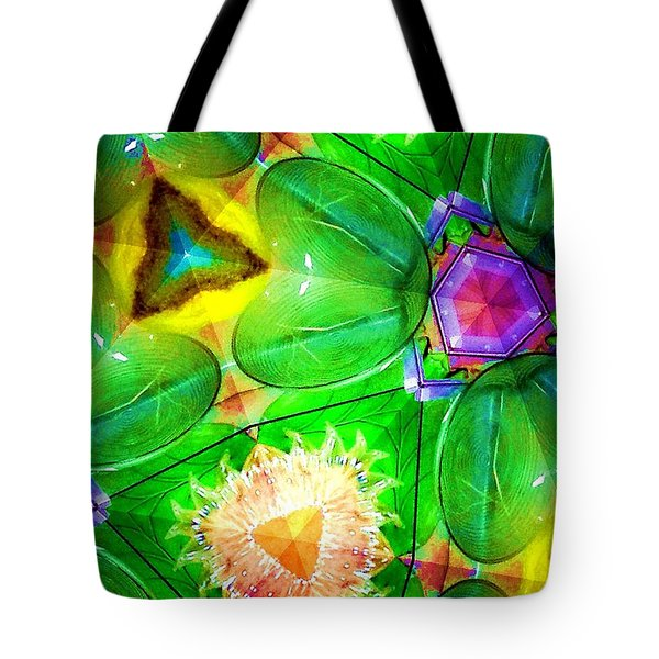 Green Thing 2 Abstract Tote Bag by Saundra Myles