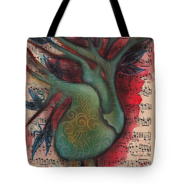 Green Tree Of Life Tote Bag by Abril Andrade Griffith