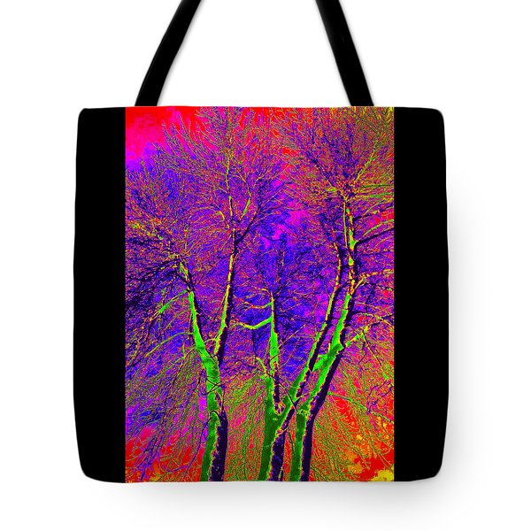 Tote Bag featuring the photograph Green Trees by Jodie Marie Anne Richardson Traugott          aka jm-ART